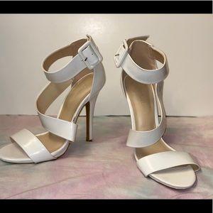 White Wild Diva Heels Size 6